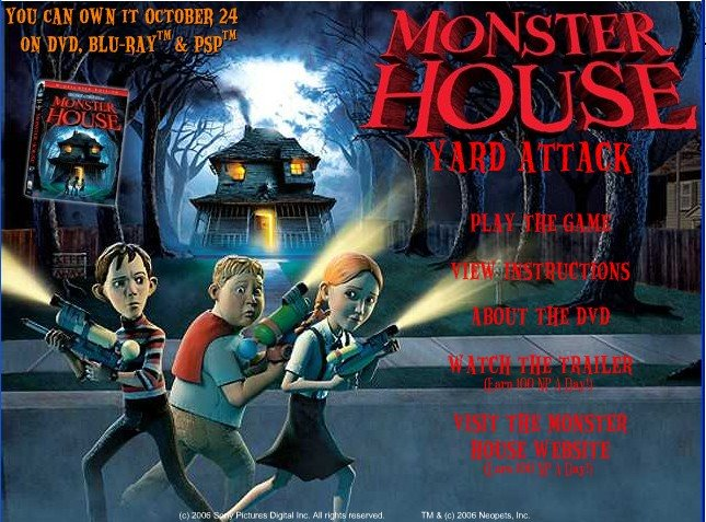 Me and My Neopets: Game: Monster House - Yard Attack