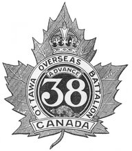 38th Battalion, CEF, badge
