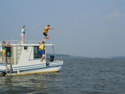 houseboat jumping