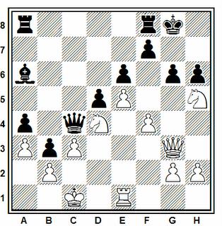 Posición de la partida de ajedrez Heberla (2569) - Rivera (2309) (III Calvia International Open, 2006)