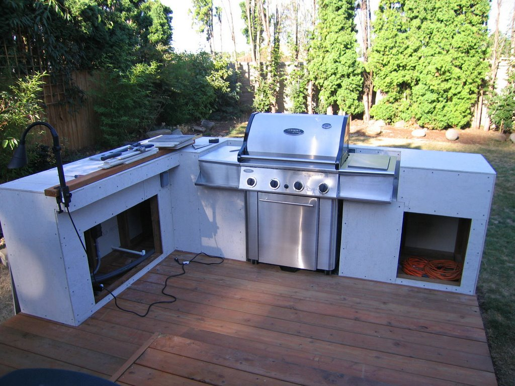 outdoor cooking: bbq island made simple step 2: installing ...