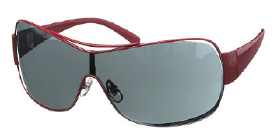 1ea171b8d7 The Metal Rim Visor Sunglasses at right are reminiscent of pairs made by  Vogue Sunglasses  Cost  £20. Color  Red frames with Grey lenses