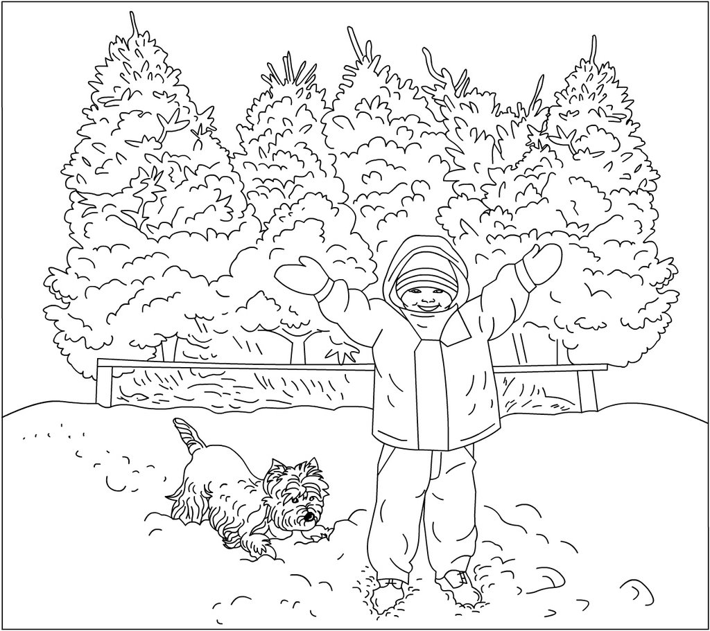 Nicole 39 s free coloring pages november 2006 for Coloring pages of winter