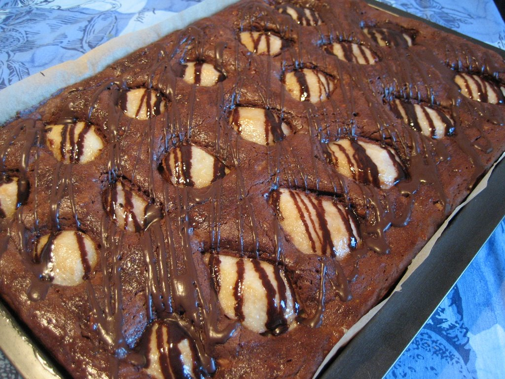 Dolce Schokoladen Brownies Mit Birnen