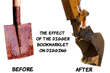 The effect of my bookmarklet on Digging