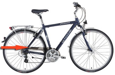 Image of Specialized Globe commuting bike with chainguard highlighted