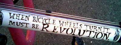 When wheels turn, it must be revolution