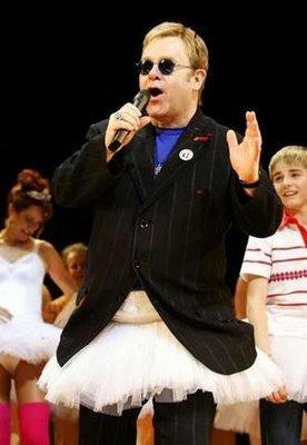 Elton in a tutu