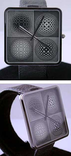 Optical Timelusion - Victor Vasarely Op-Art Watch