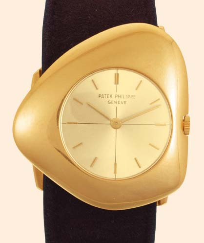 Rarities: Patek Philippe Asymmetric Watches by Gilbert Albert 1955-65