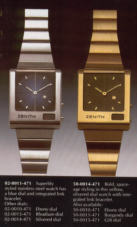 1976 Zenith 'Time Command' Analog-digital LED Hybrid Watch