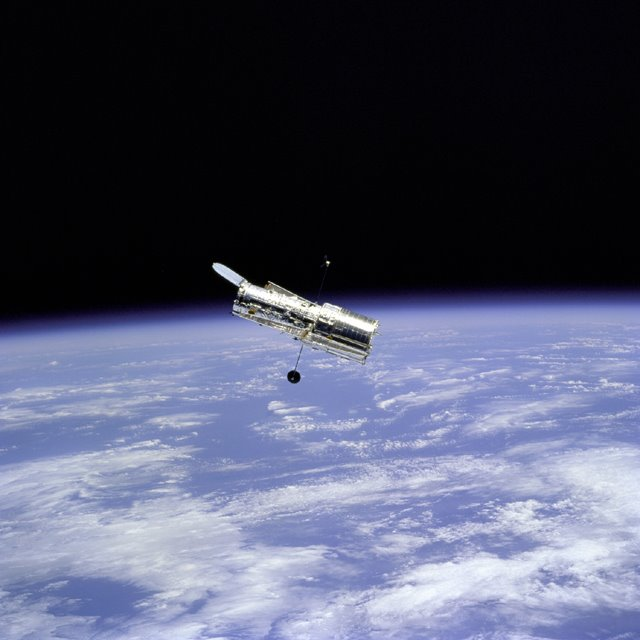 Hubble Space Telescope and Earth, NASA Johnson Space Center