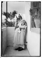 Shofar. Sabbath Horn. Yemenite Jew (2 Images)