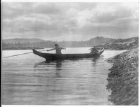 Two Kwakiutl people in a canoe, Reproduction Number: LC-USZ62-47019, Library of Congress Prints and Photographs Division.