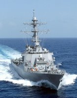 USS Cole, U.S. Navy photo by Photographer's Mate 2nd Class James Elliott. (RELEASED)