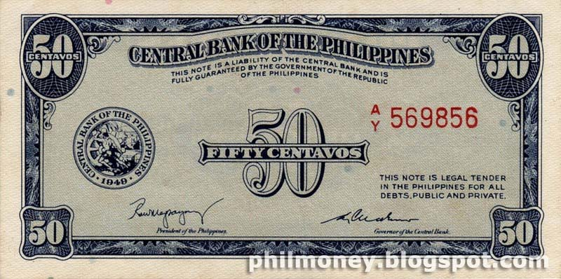 Peso Coins And Banknotes: 50 Centavo