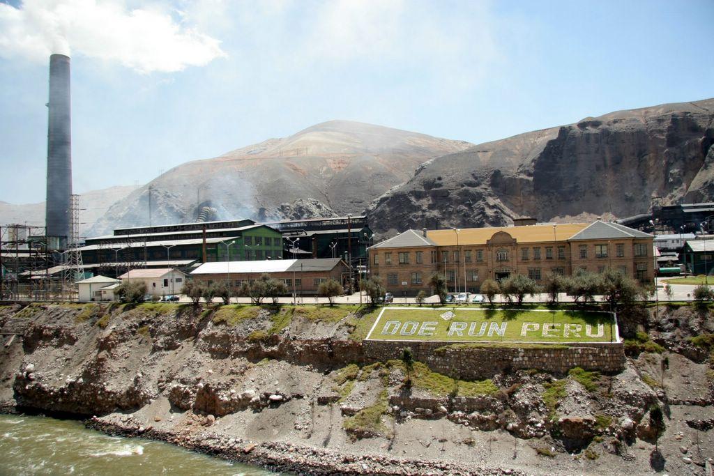 Doe Run smelting plant at La Oroya, Peru