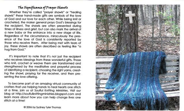 Soulful Knitting Ministries: Prayer Shawl Note Cards Available