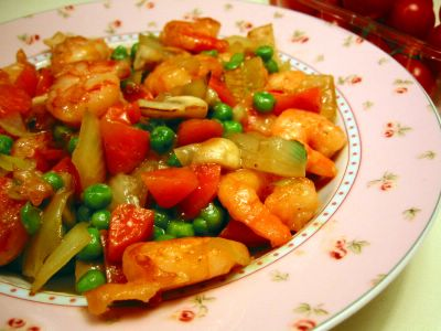 Stir Fried Shrimps with Vegetables