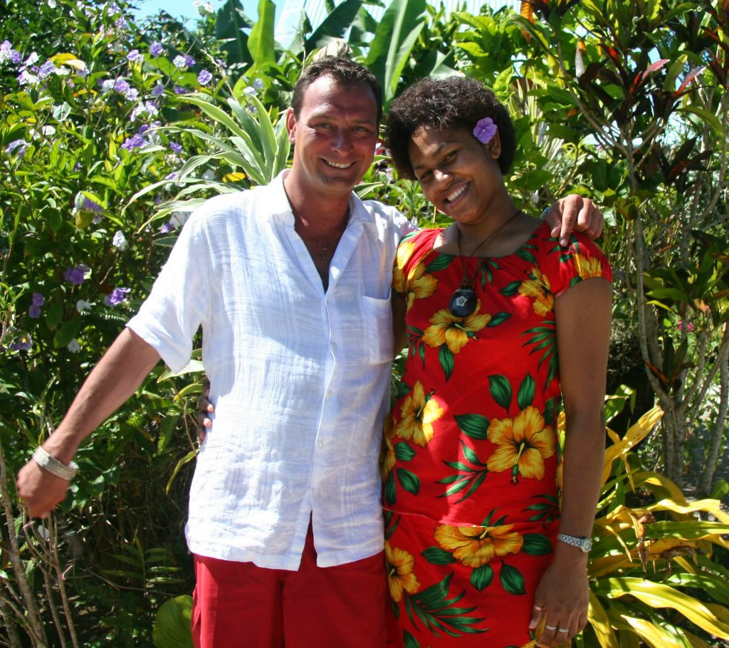 photograph picture image of Tigi and Fred at Vilistes on Viti Levu, Fiji