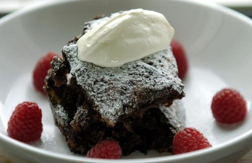 photograph picture  wannabeTVchef.blog makes chocolate bread and butter pudding for St George's Day What's For Pud