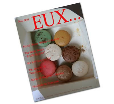 photograph picture of Pierre Herme's patisserie on the cover of Eux magazine