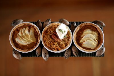 photograph picture of Toffee Apple Tart and Maple Syrup and Pecan Tart