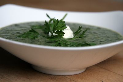 2006 photograph picture of recipe for french watercress soup or veloute au cresson