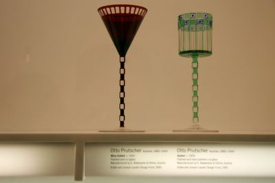 photograph picture otto prutscher wine goblets at new york moma