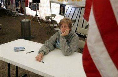 Moonbat Cindy Sheehan contemplates the end of her media whoring career