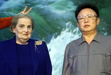 Madeleine Albright pretends to be a diplomat