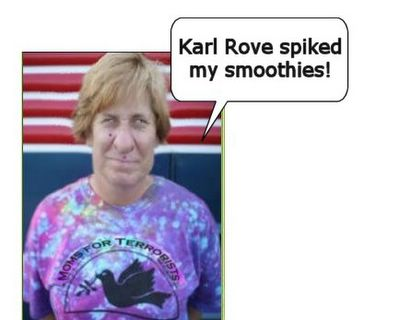 Moonbat Cindy Sheehan suffering from smoothie addiction