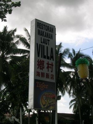 Eat First Think Later Seafood Restaurant Villa In Kampung Cina Perak