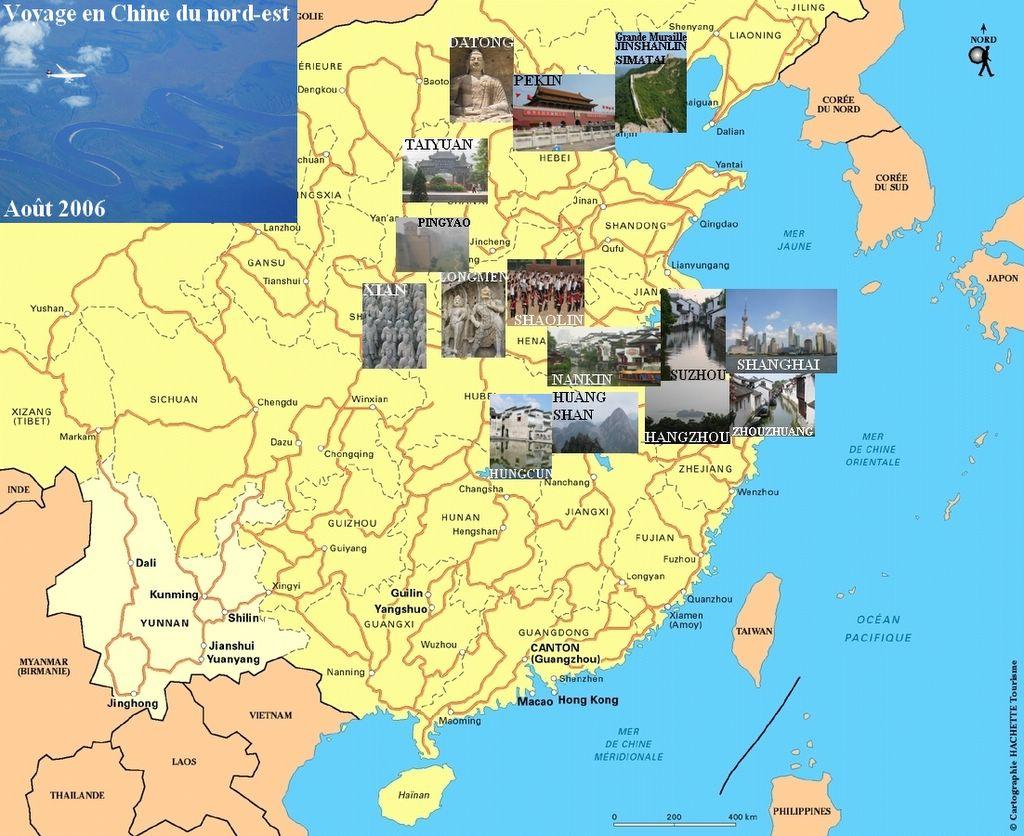 Carte Chine Voyage.Chine Du Nord Est Aout 2006
