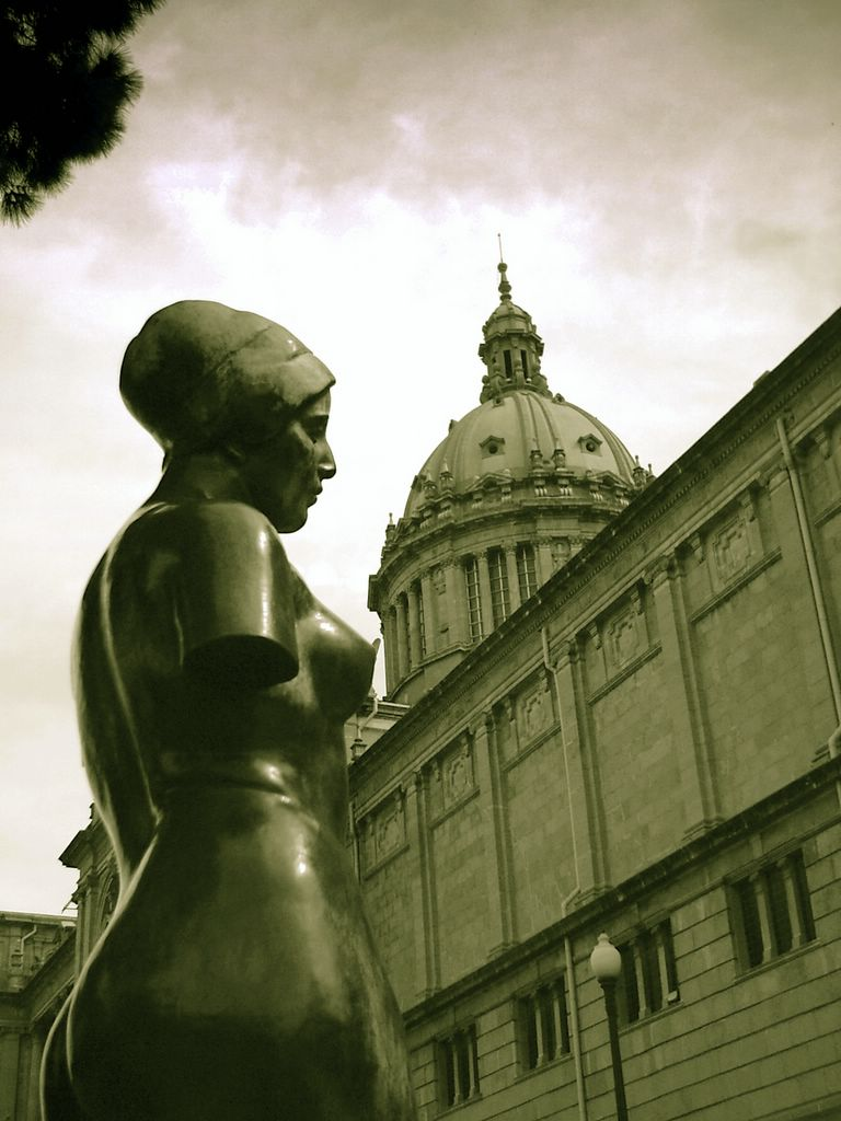 Montjuic: Woman and Dome