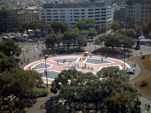 Plaza Cataluña, Barcelona: As Seen From El Corte Inglés