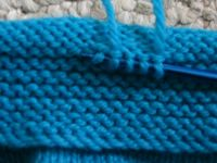 Picking up stitches next to garter stitch cuff