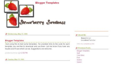 theme templates sources strawberry blogger template