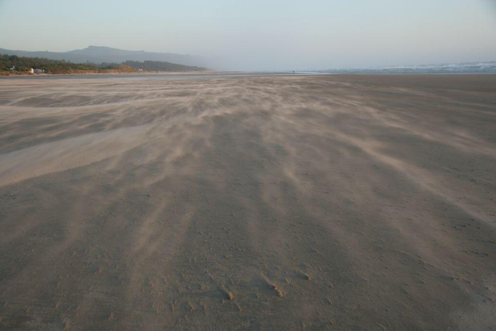 Blowing sand, Beachside State Park, Oregon, Cape Perpetua