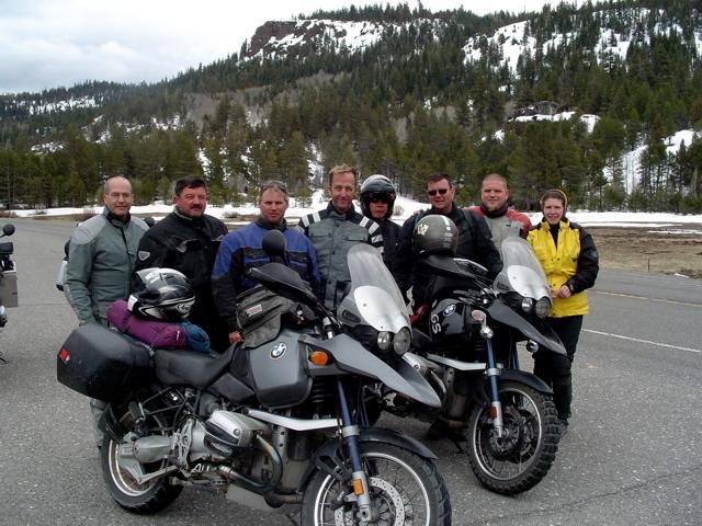 RawHyde Adventure Rally at Ballarat, CA - Riders returning to Bay Area  - Tim Campion, Anne Girardin, Issa Eismont