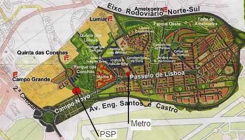mapa alta de lisboa Viver na Alta de Lisboa: Divisão da PSP da Alta de Lisboa mapa alta de lisboa