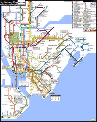 Altered Nyc Subway Map.Sauntering Fake Subway Map For Rnc Attendees