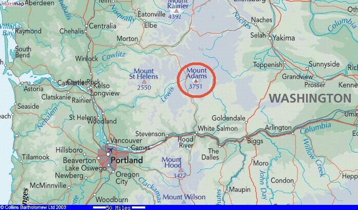 Mt Adams Washington Map.Mt Adams Climb