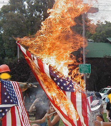 desecration of the flag essay This essay explores these definitions from the proponent's viewpoint for a law  protecting the flag and the opponents view point against such a.