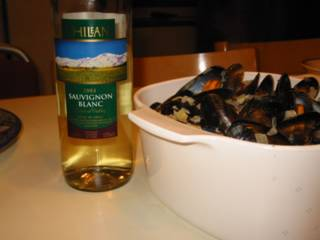 Mussels with Wine