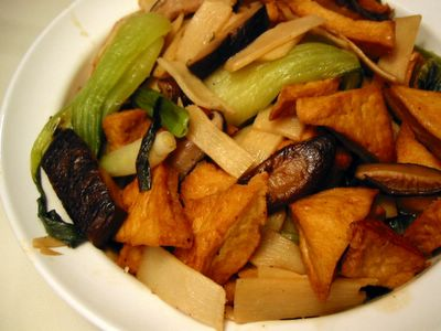 Braised Chinese Mushrooms and Tofu