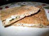 photograph picture of mint pesto pita vegan and vegetarian snack and sandwich recipes for IMBB#19