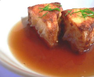 photograph picture of agedashi tofu from Bunny Foot