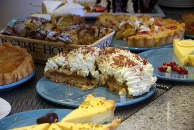 photograph picture of massive desserts like banoffi pie in the Avoca Cafe at Powerscourt House, Enniskerry, Wicklow, Ireland