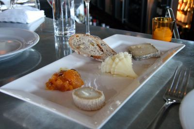 photograph picture of the cheese trolley La Suite San Francisco filed under restaurant review
